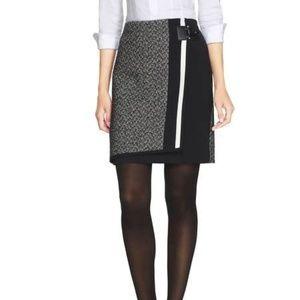 White House Black Market Tweed Mix Boot Skirt